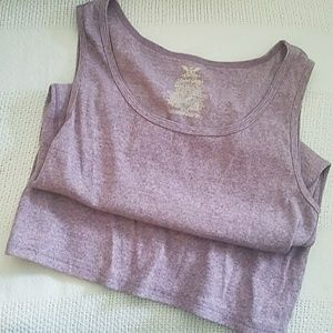 FADED GLORY VIOLET RIBBED TANK TOP sz 2X